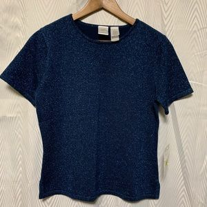Emma James short sleeve knit top size small